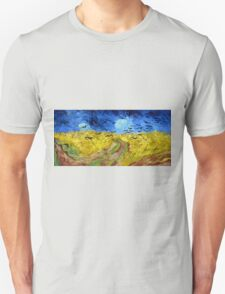 Vincent van Gogh Wheatfield with Crows Unisex T-Shirt