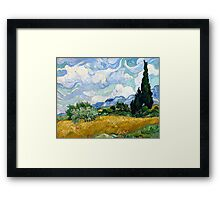 Vincent van Gogh Wheatfield with Cypresses Framed Print