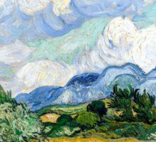 Vincent van Gogh Wheatfield with Cypresses Sticker