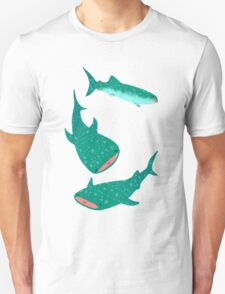 Teal Whale Shark Unisex T-Shirt