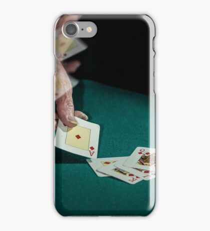 Throwing a lucky hand iPhone Case/Skin