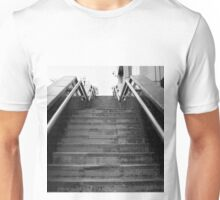 A Set Of Black And White Marble Stairs Unisex T-Shirt