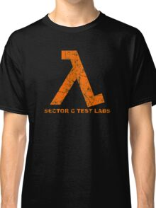 Lambda Orange Grunge Classic T-Shirt
