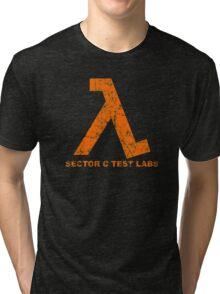 Lambda Orange Grunge Tri-blend T-Shirt