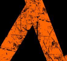 Lambda Orange Grunge Sticker