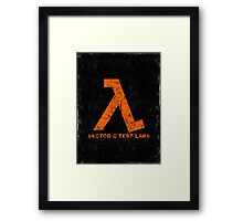 Lambda Orange Grunge Framed Print