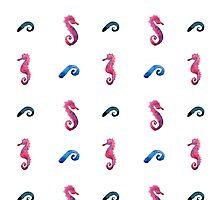 watercolor blue wave pattern by OlgaBerlet