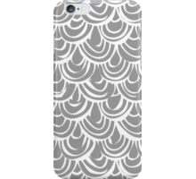 monochrome scallop scales iPhone Case/Skin