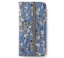 geo feathers blue iPhone Wallet/Case/Skin