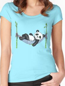 iPod Panda Women's Fitted Scoop T-Shirt