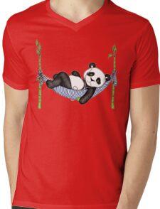 iPod Panda Mens V-Neck T-Shirt