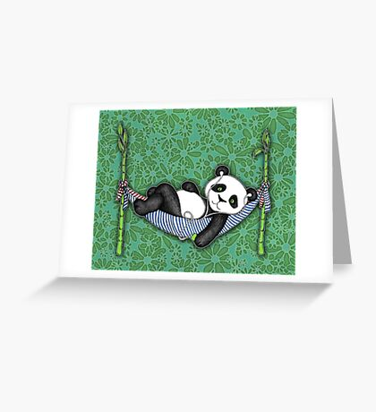 iPod Panda Greeting Card