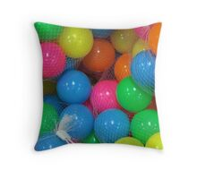 SHE DIED IN THE BALLPOOL Throw Pillow