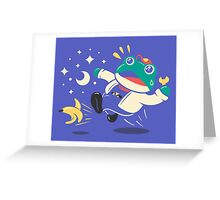 Slipping Toad Greeting Card