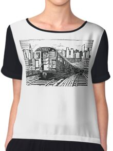 New York Subway Train Chiffon Top