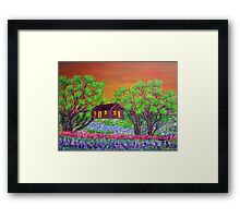 Meadow in the sunrise Framed Print