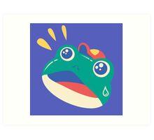 Slipping Toad head Art Print