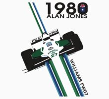 ALAN JONES AUSTRALIA WILLIAMS F1 1980  Kids Tee