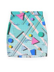 80s pop retro pattern 4 Mini Skirt