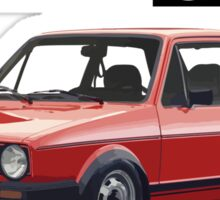 VW GOLF 1 GTI -2 Sticker