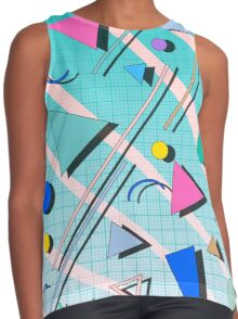 80s pop retro pattern 4 Contrast Tank