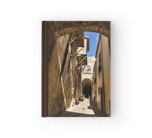 Sharp Shadows Passageway - Old Town Noto, Sicily, Italy Hardcover Journal