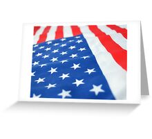 American Flag 2 Greeting Card