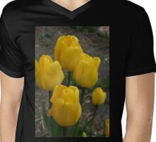 Yellow Tulips Mens V-Neck T-Shirt