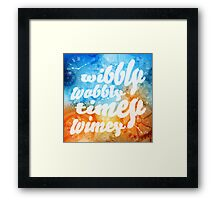 Time Wobbles Framed Print