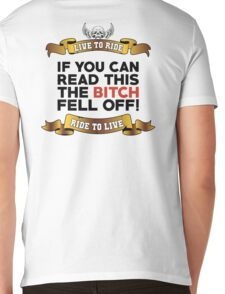 If You Can Read This Then The Bitch Fell Off - White Variant Mens V-Neck T-Shirt
