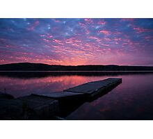 Pontoon sunrise Photographic Print