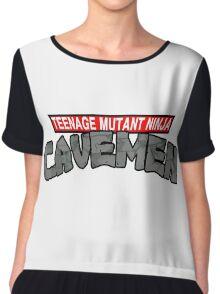 "Teenage Mutant Ninja Cavemen ""Dinosaurs"" Chiffon Top"