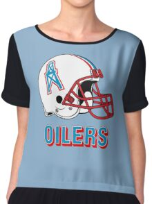 HOUSTON OILERS FOOTBALL RETRO (2) Chiffon Top