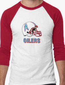 HOUSTON OILERS FOOTBALL RETRO (2) Men's Baseball ¾ T-Shirt