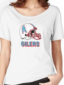 HOUSTON OILERS FOOTBALL RETRO (2) Women's Relaxed Fit T-Shirt