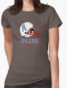 HOUSTON OILERS FOOTBALL RETRO (2) Womens Fitted T-Shirt