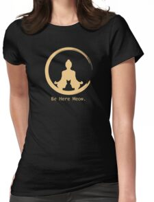 Yoga With Meow Womens Fitted T-Shirt