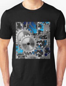 Silver Clock Gears Unisex T-Shirt