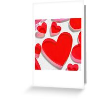 Colorful hearts isolated Greeting Card