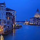 Night falling on the Grand Canal - Venice by Hercules Milas
