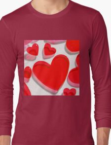 Colorful hearts isolated Long Sleeve T-Shirt