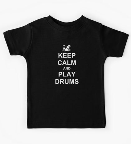 Play Drums (White) Kids Tee