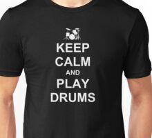 Play Drums (White) Unisex T-Shirt