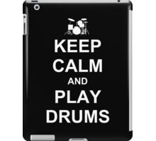 Play Drums (White) iPad Case/Skin