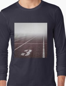 Track and Field Fog Scenery Long Sleeve T-Shirt