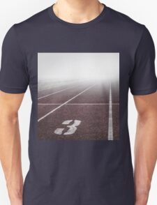 Track and Field Fog Scenery Unisex T-Shirt