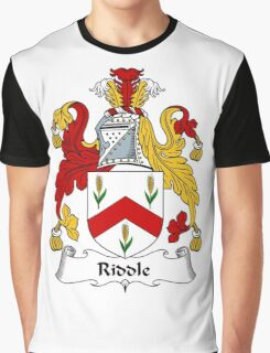 Riddle Coat of Arms / Riddle Family Crest Graphic T-Shirt