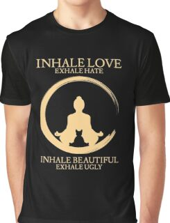Inhale exhale Yoga With Cat Graphic T-Shirt