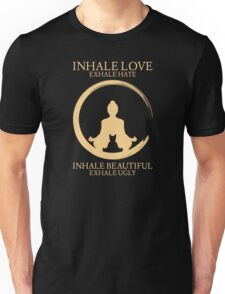 Inhale exhale Yoga With Cat Unisex T-Shirt