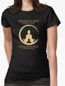 Inhale exhale Yoga With Cat Womens Fitted T-Shirt